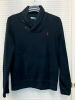 Polo Ralph Lauren Men's Long Sleeve Shawl-Collar Neck Black Sweater Size XL