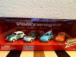 2002 JOHNNY LIGHTNING 4 '66 Volkswagen Beetle 1/64 Die Cast-Cragar Cars- NIP