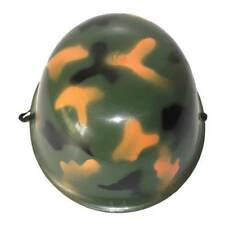 Bulk Lot 6 x Army Helmet Camouflage Plastic Boys Party Favours Solider Favors