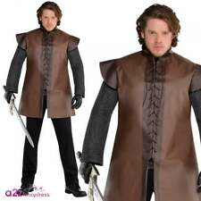 Mens Warrior Tunic Medieval Game of Thrones Adult Fancy Dress Costume Plus Size