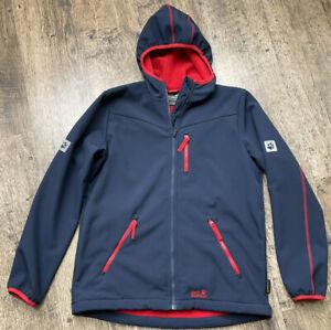 Kids Jack wolfSkin Flex Sheild Jacket Coat With Hood Fit 14years Size Eu 176 #w