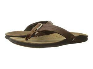 Men's Shoes Reef J BAY III Leather Flip Flop Sandals RF002616 CAMEL