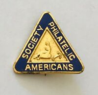 Americans Philatelic Society Small Authentic Pin Badge Rare Vintage (A9)