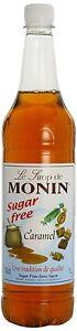 MONIN Coffee Syrup *SUGAR FREE* CARAMEL 1LTR