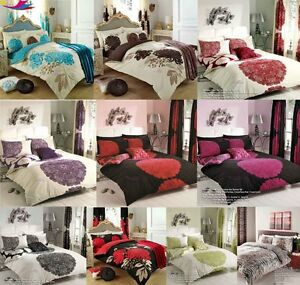 DUVET COVER With Pillow Case Quilt Cover Bed Set lot Sizes Double & King