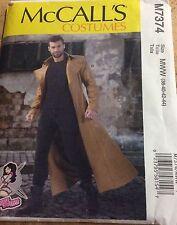 McCall's Pattern 7374 Men's Long Coat / Duster Costume Sz 38-44