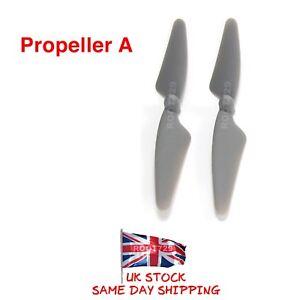 2 x Grey Hubsan X4 Brushless Camera H501C Propellers A Blades H501C-06 UK Seller