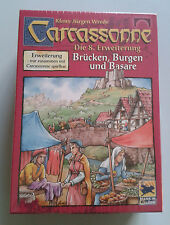 Carcassonne Expansion - Bridges, Castles & Bazaars, Brand New with English Rules