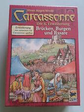 Carcassonne Espansione-Ponti e Castelli & Bazar, Inglese Nuovo di zecca con le regole