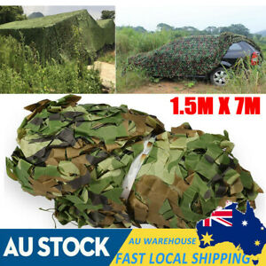 7M Oxford Camouflage Net Camo Netting Hunting Army Camping Car Cover AU Shipping