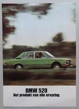 V24402 BMW SERIE 5 520 & 520i - DEPLIANT - NON DATE - A4 - NL