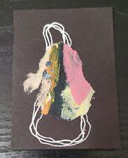 ACEO Mixed Media Angel of Companionship Paint Peel Mini Art Card ATC