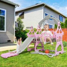 Indoor Outdoor Kids Play Slide Set Climber Playset Playground Swing Toddler Baby