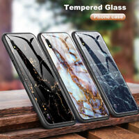 Marble Cover Tempered Glass Case for Samsung Galaxy A30 A50 M20 M30 S8 S9 S10+