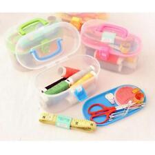 Threader Needle Thread Tape Measure Scissor Thimble Storage Box Sewing Kits Ss