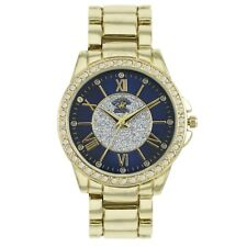 US Beverly Hills Polo Club Women's Watch Rhinestone-Accented Gold-Tone Watch