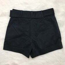 Club Monaco Womens Shorts Black Belted Sleek Chic Business Casual Size 4