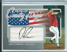 2011 ITG Heroes & Prospects Drew Pomeranz Country of Orgin AUTO AUTOGRAPH RC