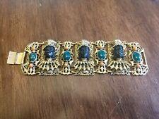 Rare Vintage Signed Selro Corp Jeweled bracelet.