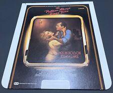 The Postman Always Rings Twice CED RCA Selectavision VideoDisc - Jack Nicholson