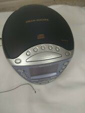 Sony Icf-Cd853V Dream Machine Cd player Clock Radio with Digital Tuner alarm