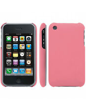 Coque rigide Rose pour iPhone 3GS aspect mat toucher rubber gomme