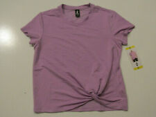 Skechers Womens Lilac Exercise Performance Short Sleeve Knot Shirt Xxl Nwt