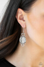 Paparazzi Jewelry Port Royal Princess - White Earrings
