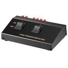 Lautsprecher Umschaltbox Umschalter Verteiler Splitter Switch für 4 Boxen 2 fach