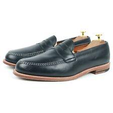 Alden Navy Blue Penny Mocassins Cuir Chaussures Hommes UK 11 US 11.5 EU 45.5