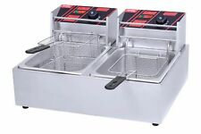New Commercial Electric Deep Fryer Twin Basket 6L Each