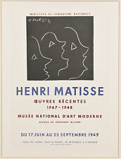 Collection of (4) Matisse Lithographs from Fernand Mourlot Book: Art in Posters