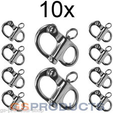 10x 52mm A4-AISI 316 Acero Inoxidable Fijo Snap grillete Free P + P!