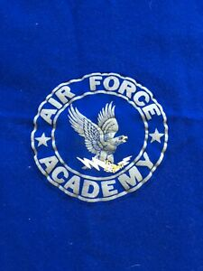 "Pendleton Wool Blanket US Air Force Academy USAF Blue 65""x45"" 1950s USA Charity!"
