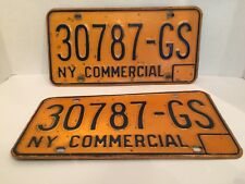 Late 50s Early 60s New York Pair of Commercial License Plates 30787-GS