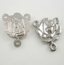 100pcs of Religious Metal Rose Medal Rosary Parts Centerpiece