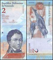 Billete de 2 Bolivares de Venezuela