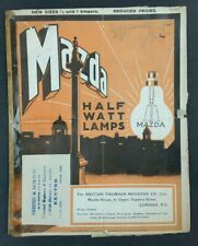 Mazda BTH 1915 1900s Vintage Early Light Bulb Lamp Catalogue Brochure ORIGINAL