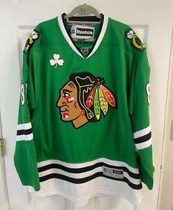 NHL Chicago Blackhawks XL St Patricks Day Marian Hossa #81 Reebok Jersey
