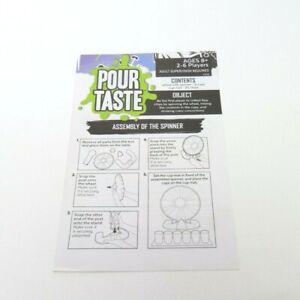 Pour Taste Game Replacement Parts Pieces - Instructions