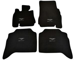 Floor Mats For Bentley Arnage 1998-2009 With Bentley Emblem Tailored Black Set