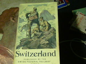 1929 Switzerland published by the Swiss Federal Railway Berne