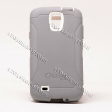 Otterbox Defender Samsung Galaxy S4 Active Case Gray/White No Holster Belt Clip