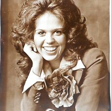 Vtg 70s Marie Osmond 11 x 14 Sepia Tone Photo Print Poster Paper Rose Pin