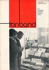 TONBAND - Zeitschrift Magazin 1 / 1964 - Audio Aufnahmen Technik - B16406