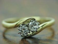14kt 585 Giallo Anello con 0,40ct GUARNIZIONE con brillante diamante// 1,7g/RG 51,5