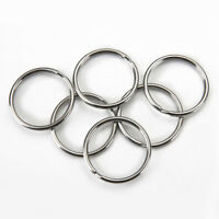 Steel Keyring Split Key Rings 25mm l Plated Steel Loop Hoop Ring 10pcs pack