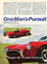 1986 AC Mark IV Cobra Original Car Review Report Print Article J776