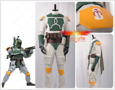 Star Wars Superhero Boba Fett Cosplay Costume Outfit Suit No Helmet Halloween