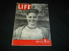 1945 MARCH 19 LIFE MAGAZINE - DUTCH GIRL - BEAUTIFUL FRONT COVER - GG 262